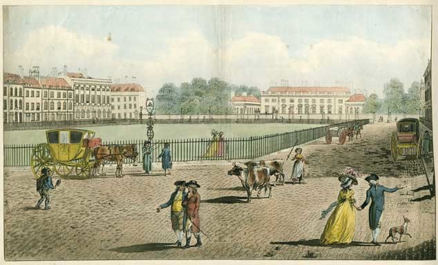 Bloomsbury Square in the C18th