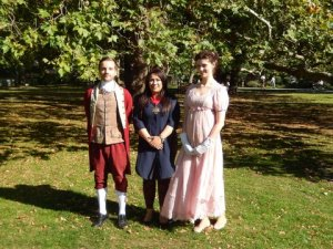 Deputy Mayor Nadia Shah came to visit and met Regency characters