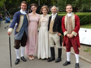 Regency visitors to Brunswick Square