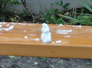 Snow sculpture, Marchmont Community Garden
