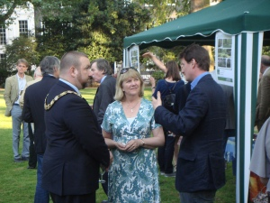 The Mayor of Camden with the ABSG coordinator and the Bedford Estates head gardener