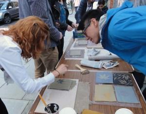 making ceramic leaf imprints