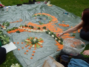 Creating a garden square in fruit and veg