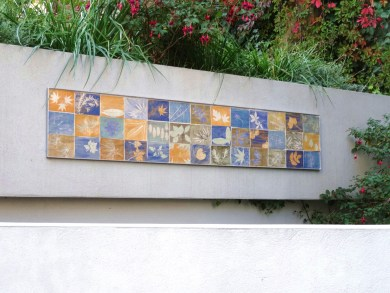 The ceramic tile mosaic in Marchmont Community Garden